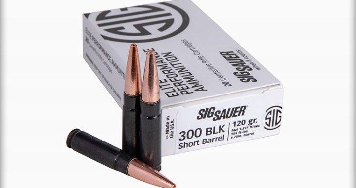SIG SAUER presenta 120gr Supersonic 300BLK SBR Elite Copper Duty Munición