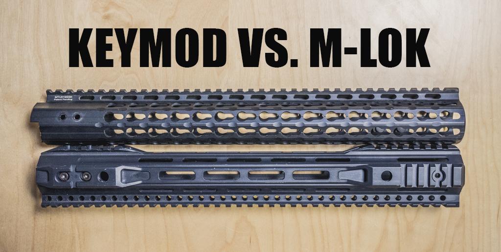 Montajes KeyMod vs. M-LOK