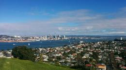 View of Auckland's CBD from Mt Victoria