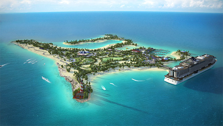 Clientes MSC Cruzeiros vão ter ilha exclusiva nas Bahamas