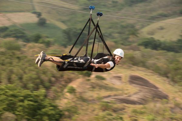 Tirolesa voadora em Socorro (Foto: Divulgação Turismo Socorro)