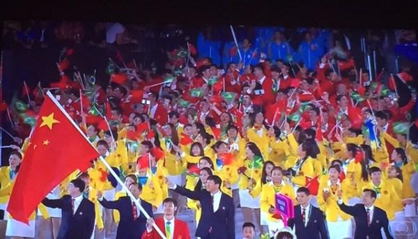 Atletas da República Popular da China.
