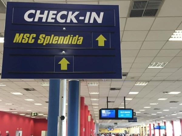 Check-in no Porto de Santos. (Foto: Alessandra Maróstica)