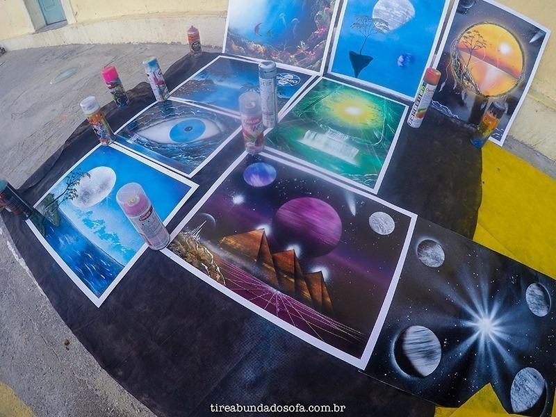 Arte de rua no centrinho da Lagoa da Conceição, florianópolis, santa catarina, braisl