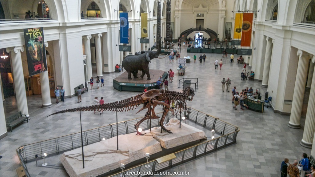 Hall de entrada do Field Museum, em Chicago