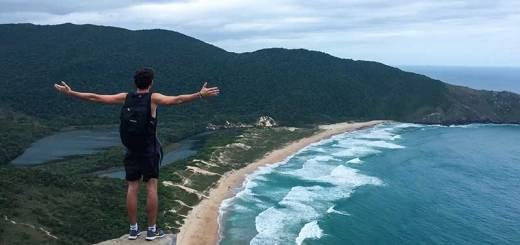 Vista da pedra da coroa, trilha da lagoinha do leste, florianópolis, ilha da magia, santa catarina