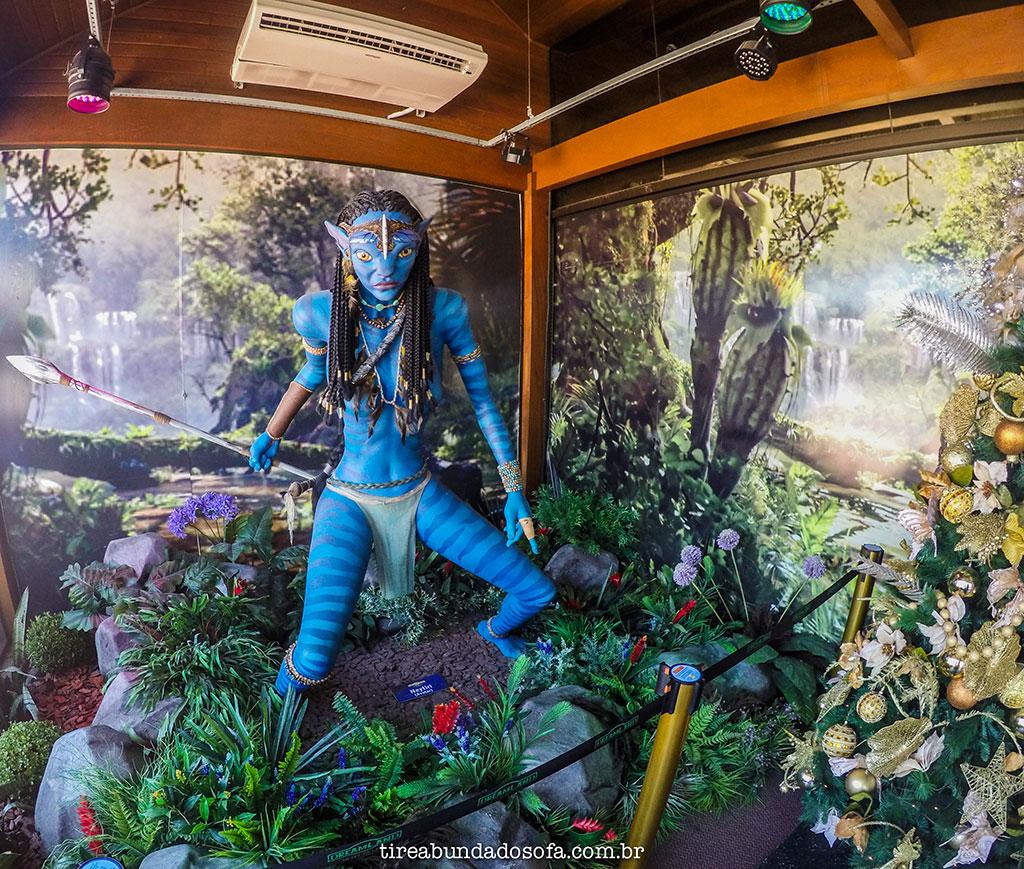 Personagem do filme Avatar no Museu de Cera de Gramado. . O que fazer em Gramado