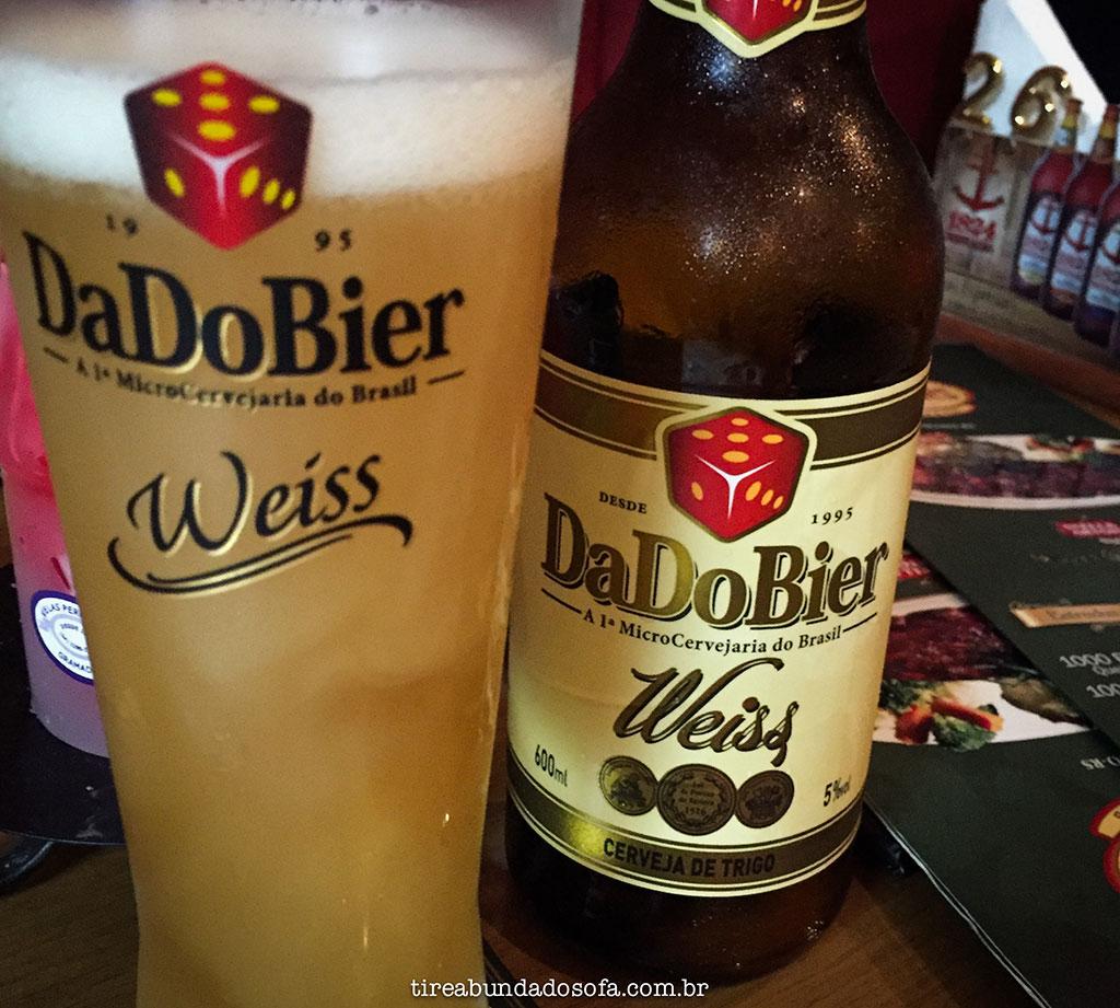 Copo de cerveja weiss no restaurante O Irlandês