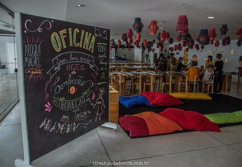 Oficinas no Museu Oscar Niemeyer