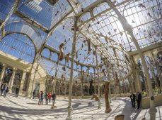 Interior do Palácio de Cristal, dentro do Parque de El Retiro, em Madrid, Espanha