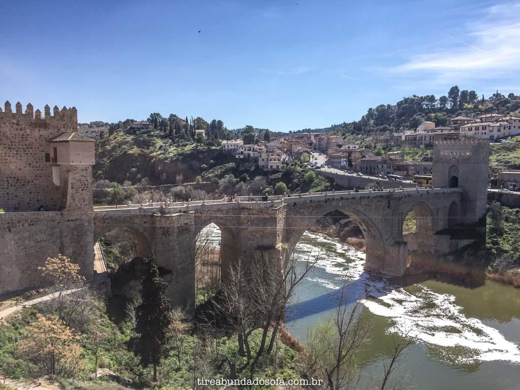 Ponte San Martín, em Toledo Espanha