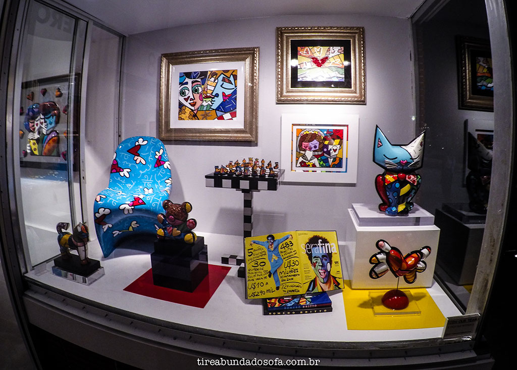 galeria de arte de romero britto, em miami beach