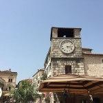 old town kotor, relógio gigante, montenegro, europa