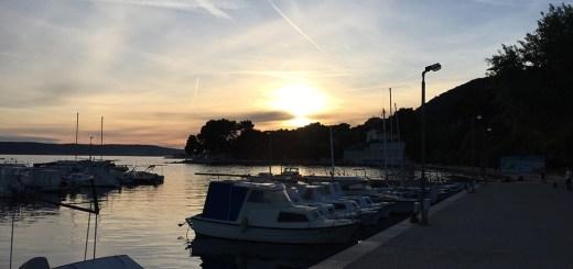 Pôr do sol em Split, Croácia