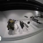 motor porsche desmontado no museu da porsche em stuttgart