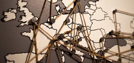 planejamento, mapa com pins