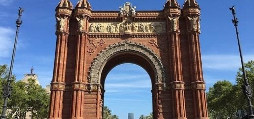portal para parque em barcelona, espanha