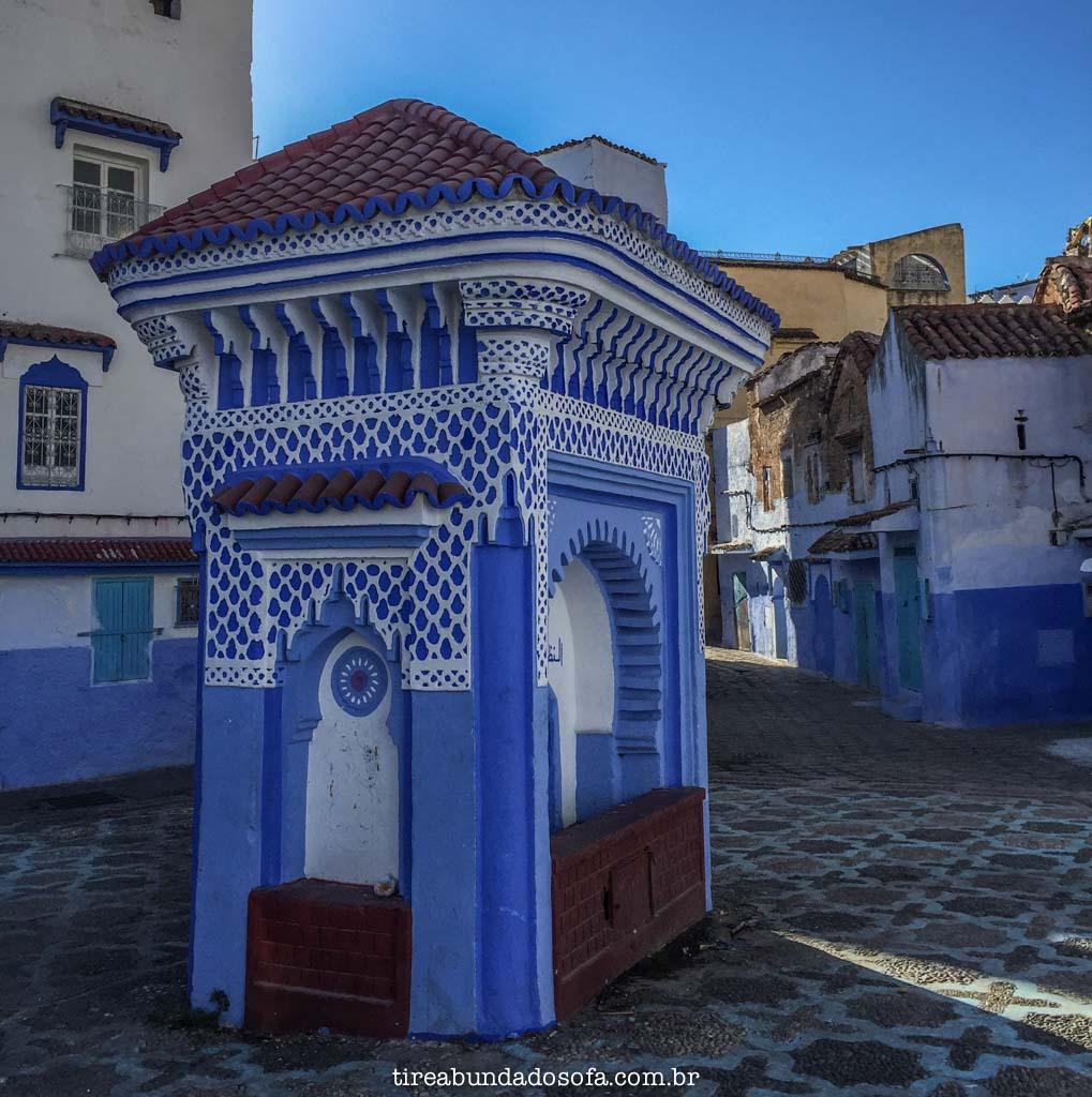 ruas de chefchaouen, a cidade azul do marrocos