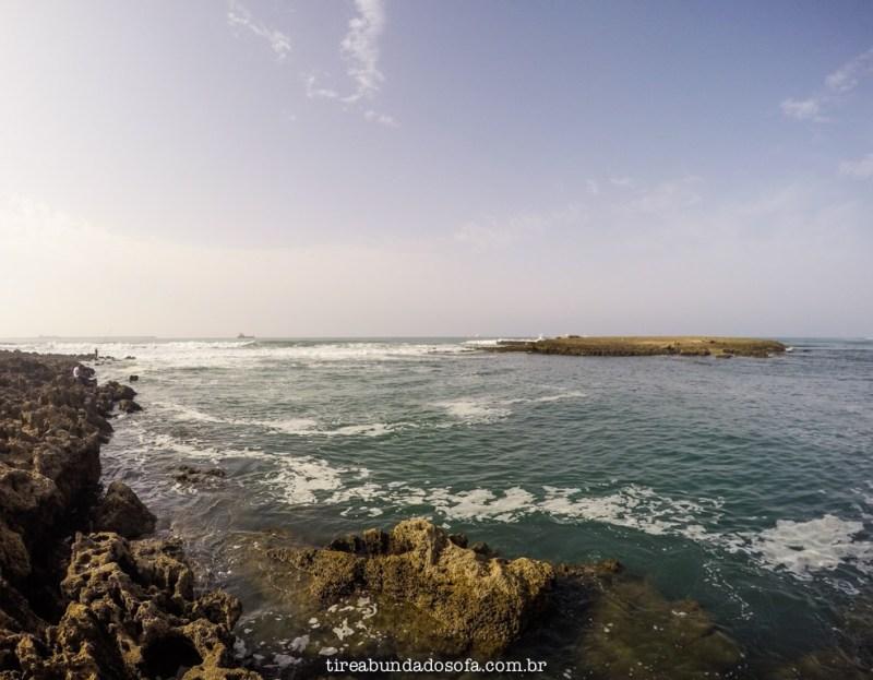 Praia de mohammedia, marrocos
