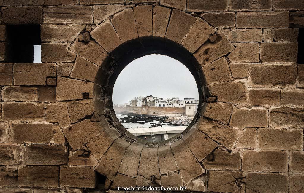 muralha de essaouira, no marrocos