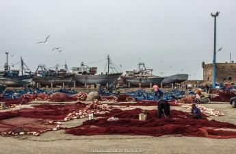 O dia a dia dos pescadores, em Essaouira, Marrocos
