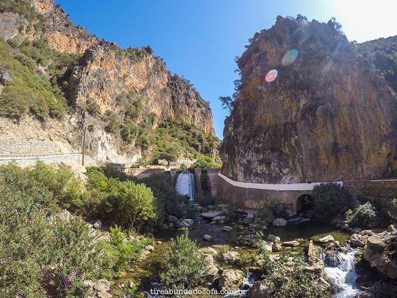 akchour, cachoeira, cascade d'akchour, chefchaouen