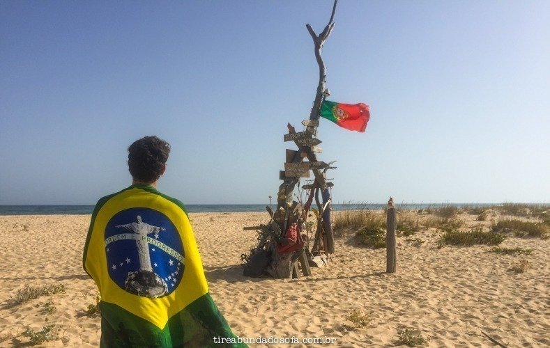 algarve, portugal, praias de portugal, bandeira do brasil, bandeira de portugal