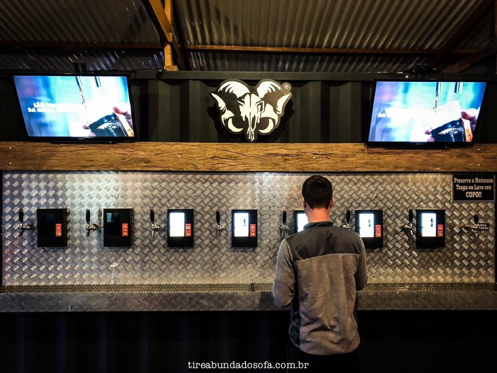 Sistema pré pago de cerveja, na bodebrown em curitiba