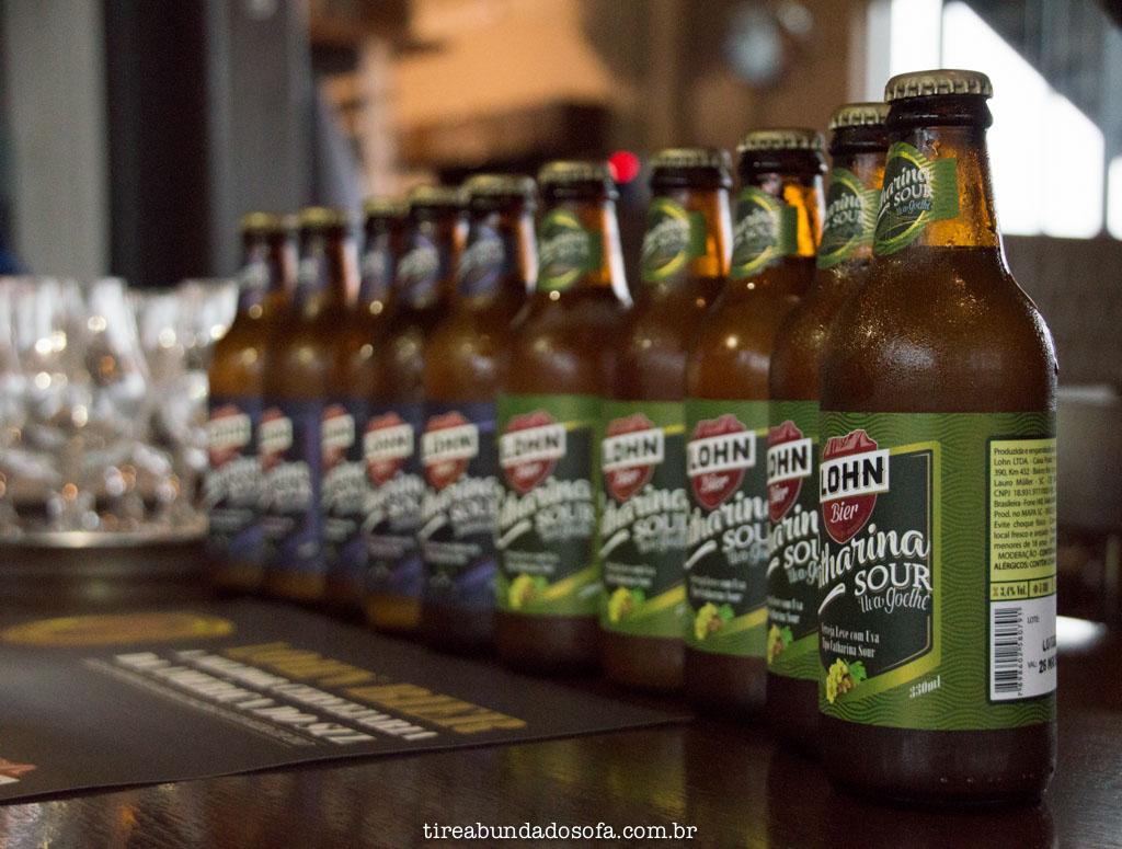 Degustação da Catarina Sour, na cervejaria lohn bier