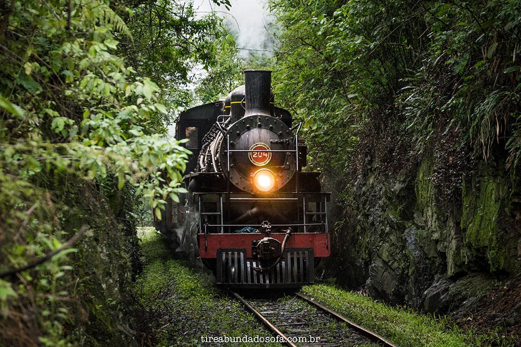 locomotiva a vapor americana mallet 204, passando por rio natal, em são bento do sul