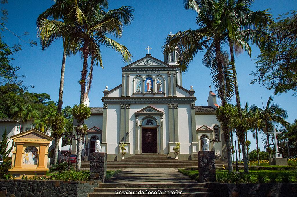 frente da igreja matriz de são marcos, em nova veneza