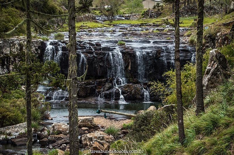 cascata da barrinha, na serra do rio do rastro