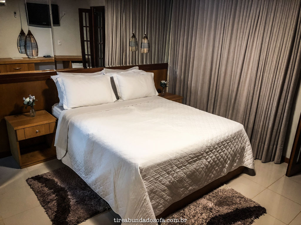 Quartos grandes e confortáveis no Hotel Fazenda China Park, em Domingos Martins, Espírito Santo