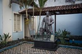 Estátua na Casa da Memória, em Vila Velha, Espírito Santo