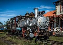 Locomotiva antiga, na casa da memória de ponta grossa