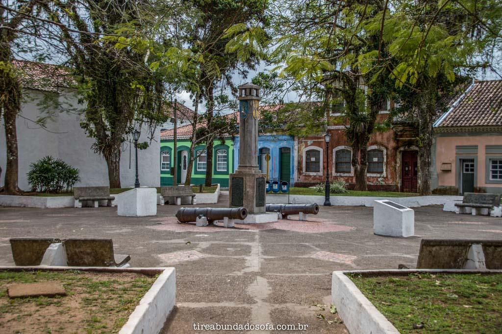 Praça Martim Afonso de Souza, em Cananéia