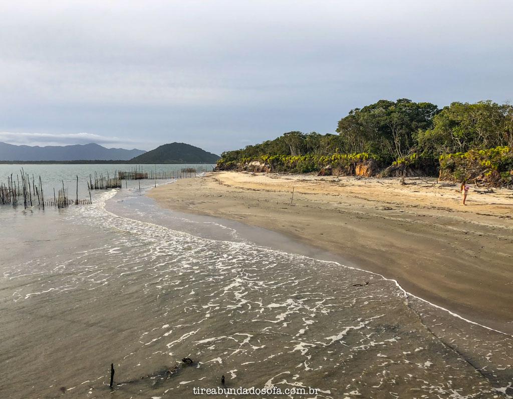 Praia da Ponta Sul, lado oeste da Ilha Comprida