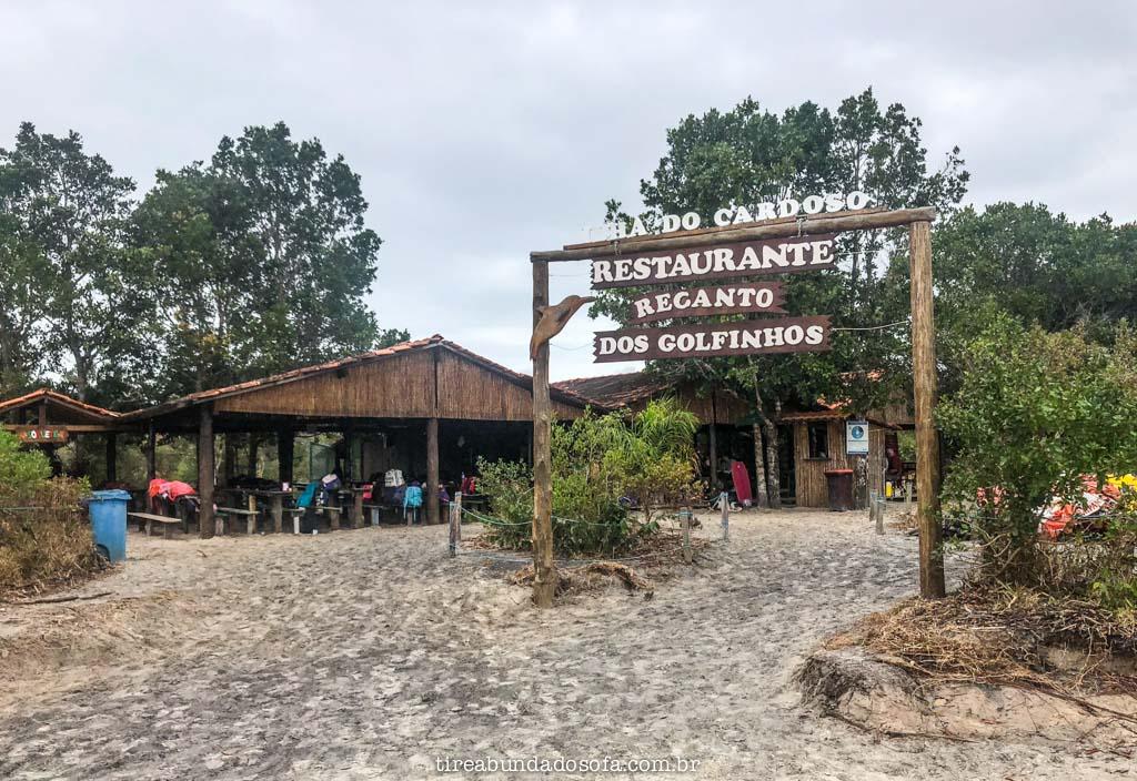 Restaurantes baratos na Ilha do Cardoso