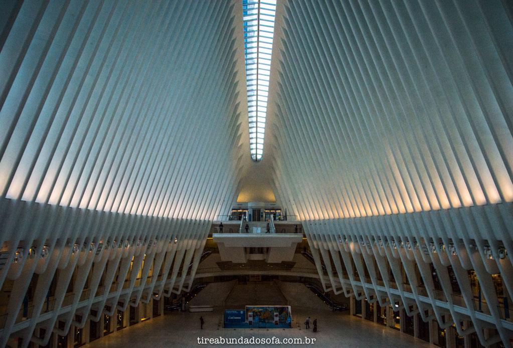Interior da estação oculus station, em nova york