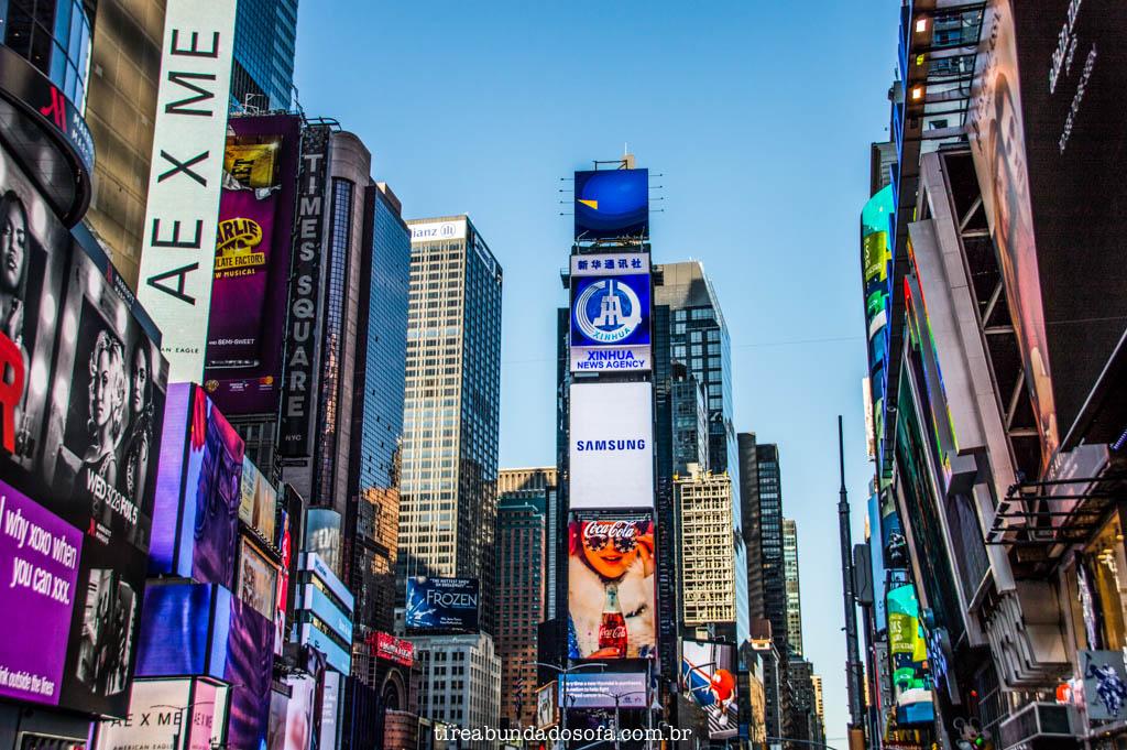 A famosa Times Square, em Nova York