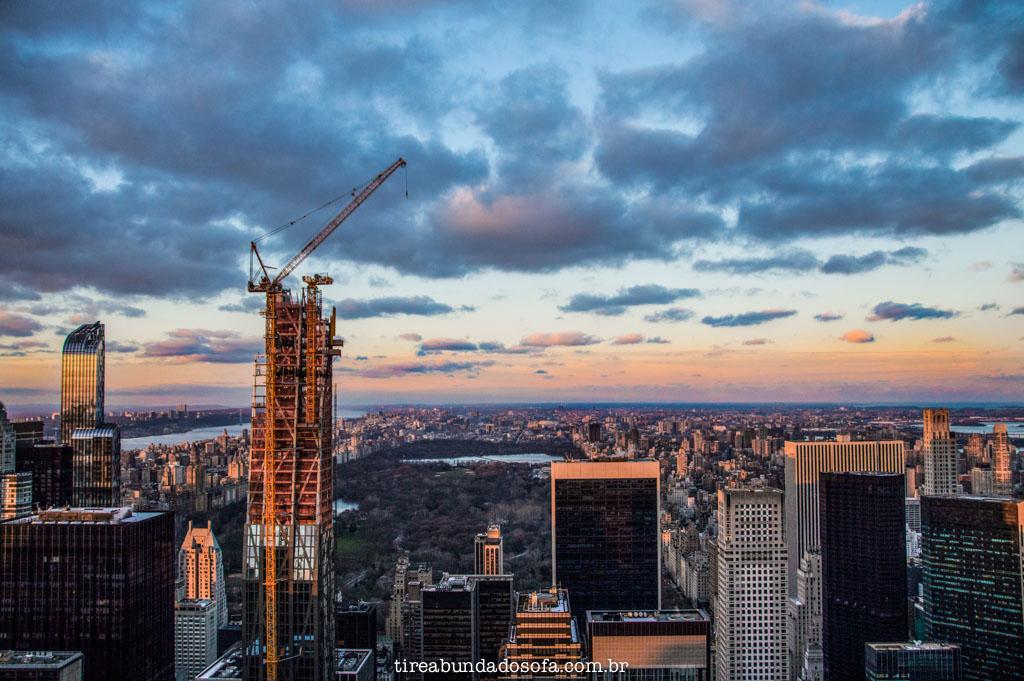 Vista norte do Top of The Rock, em nova york