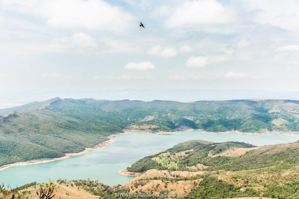 Vista de cima do Morro do Chapéu, em capitólio, minas gerais