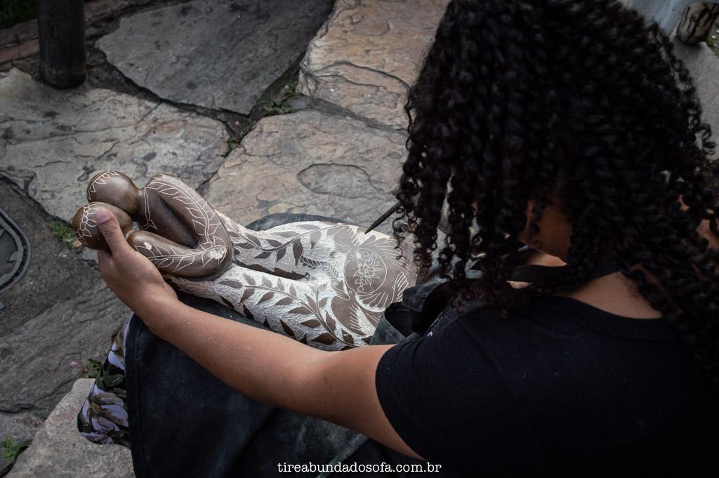 Feira de artesanato de Ouro Preto, em Minas Gerais