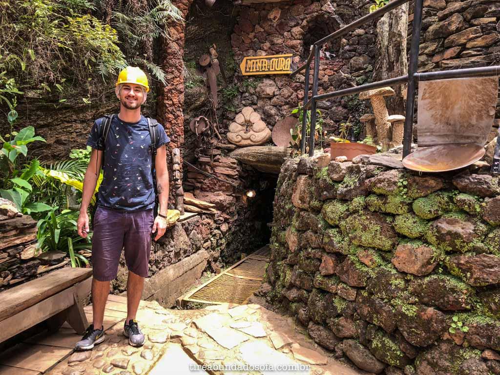 Entrada da Mina Du Veloso, em Ouro Preto, Minas Gerais