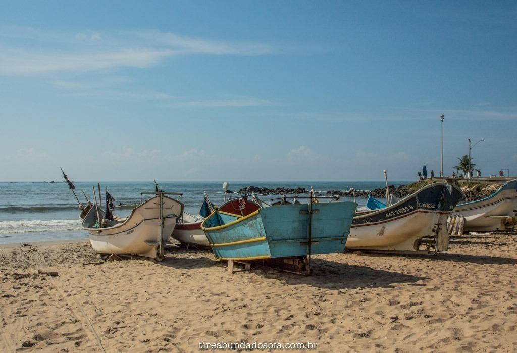 Ponto de pescadores, em barra velha, santa catarina