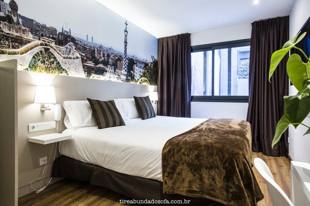 Melhor hotel custo benefício dessas região, o Hotel Bestprice Gracia Barcelona