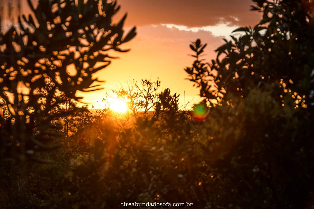Pôr do sol visto do Chalé do Sério, em Carrancas, Minas Gerais