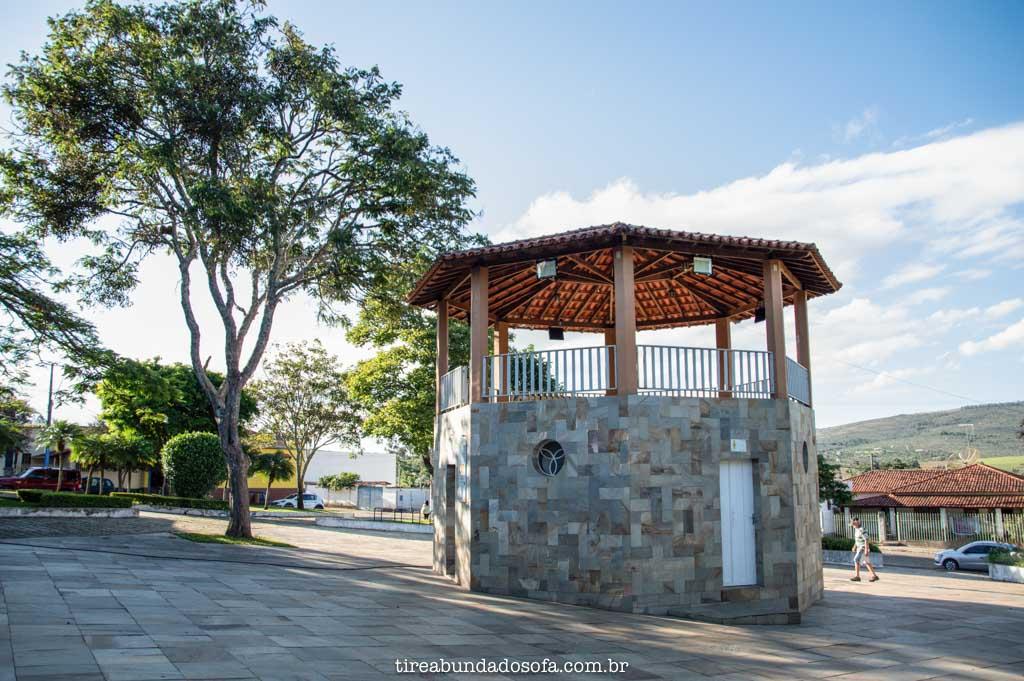 Praça de Carrancas, em Minas Gerais
