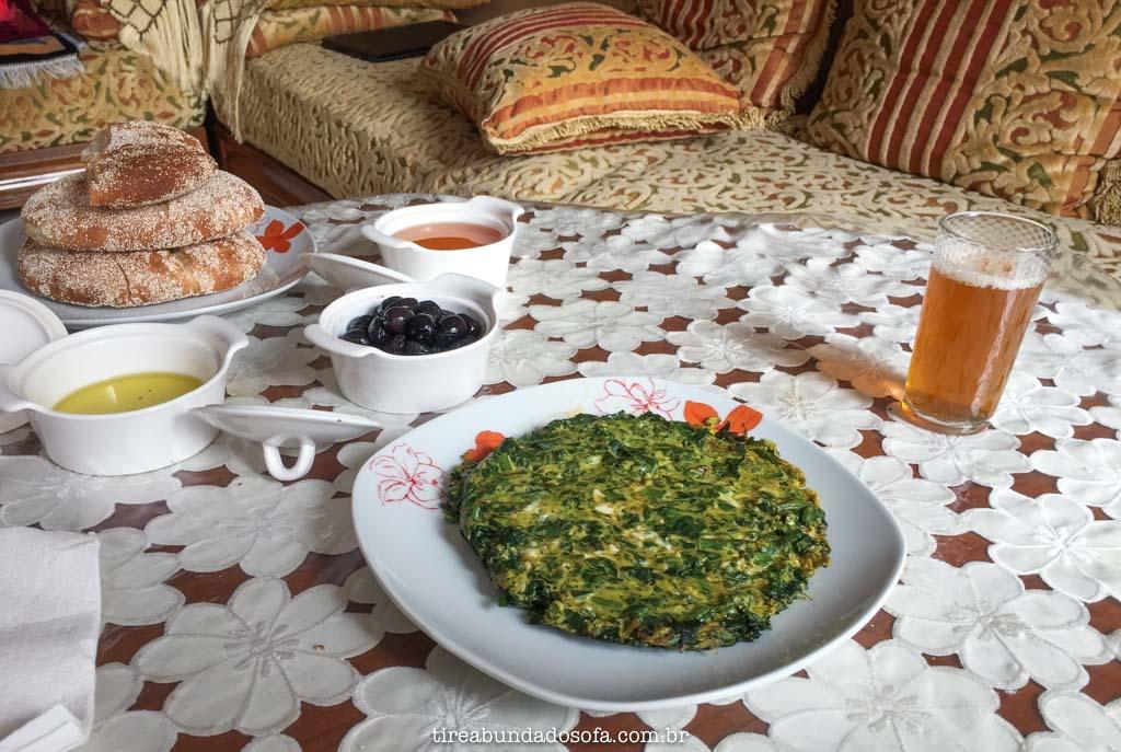 café da manhã tradicional do marrocos