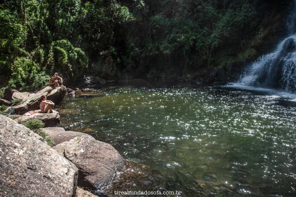 Poço da Cachoeira dos Garcias, em Aiuruoca, Minas Gerais